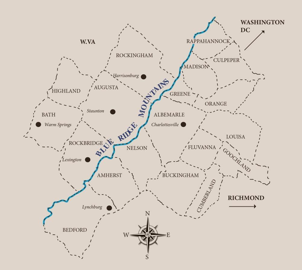 JT Samuels service area map